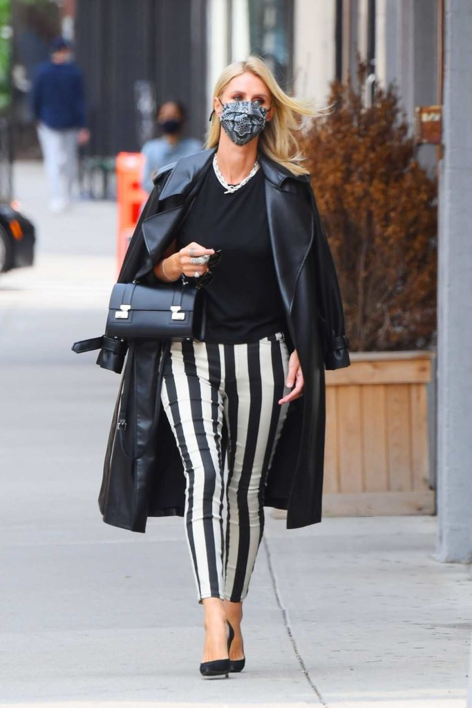 Nicky Hilton in a Striped Pants