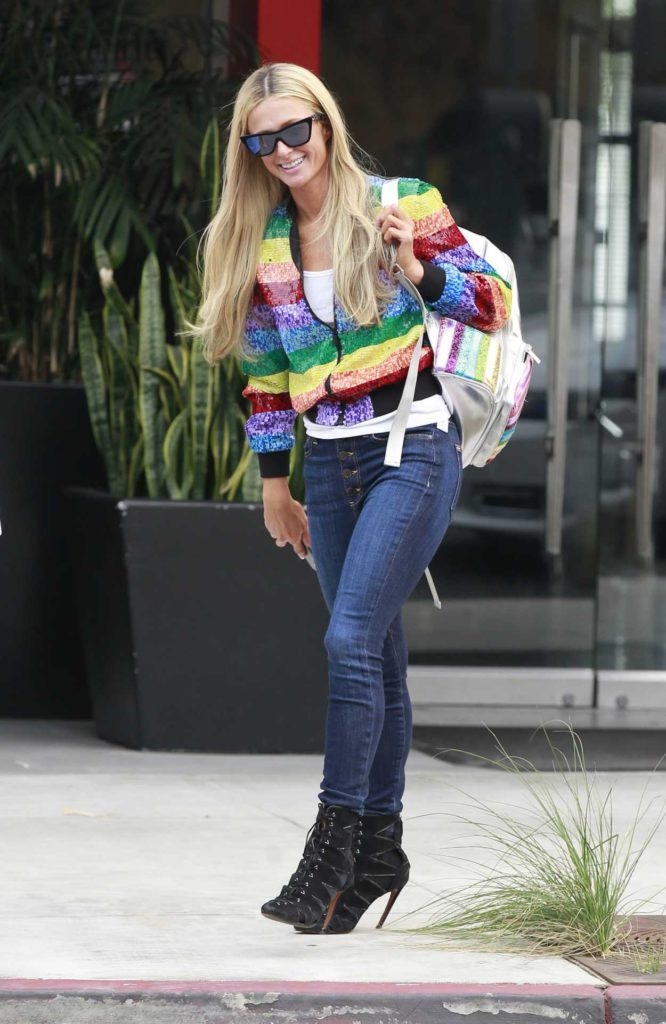 Paris Hilton in a Full Colour Jacket