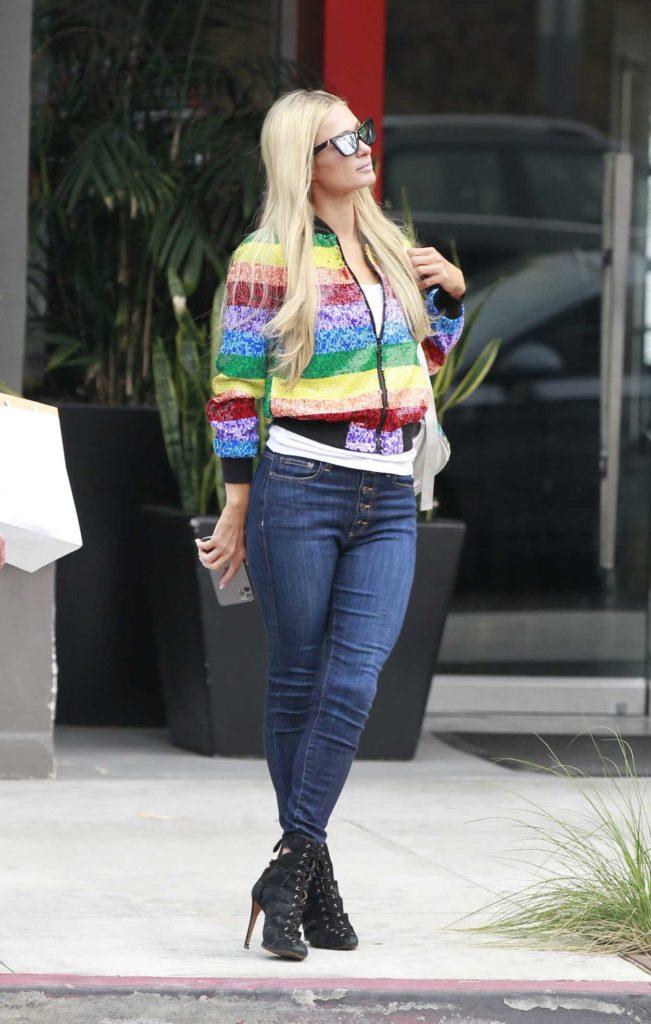 Paris Hilton in a Full Colour Jacket