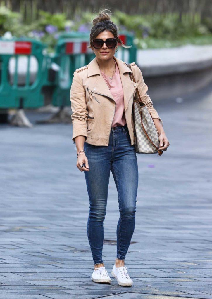 Zoe Hardman in a Caramel Jacket