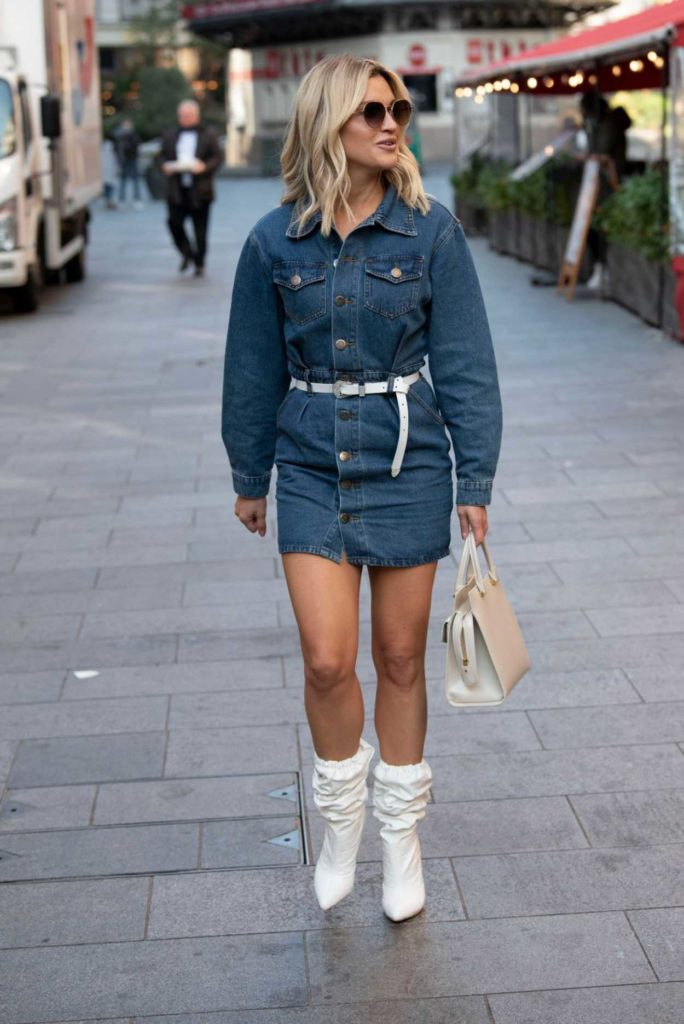 Ashley Roberts in a Denim Mini Dress