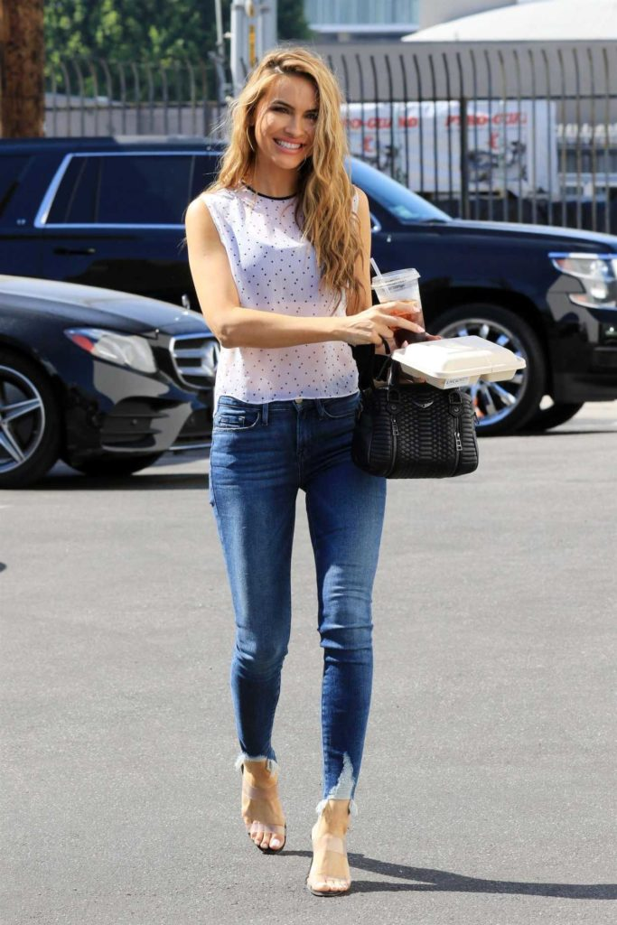 Chrishell Stause in a White Top