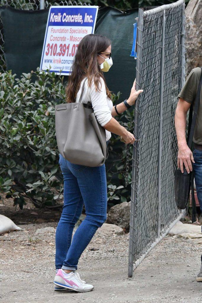 Jennifer Garner in a Protective Mask