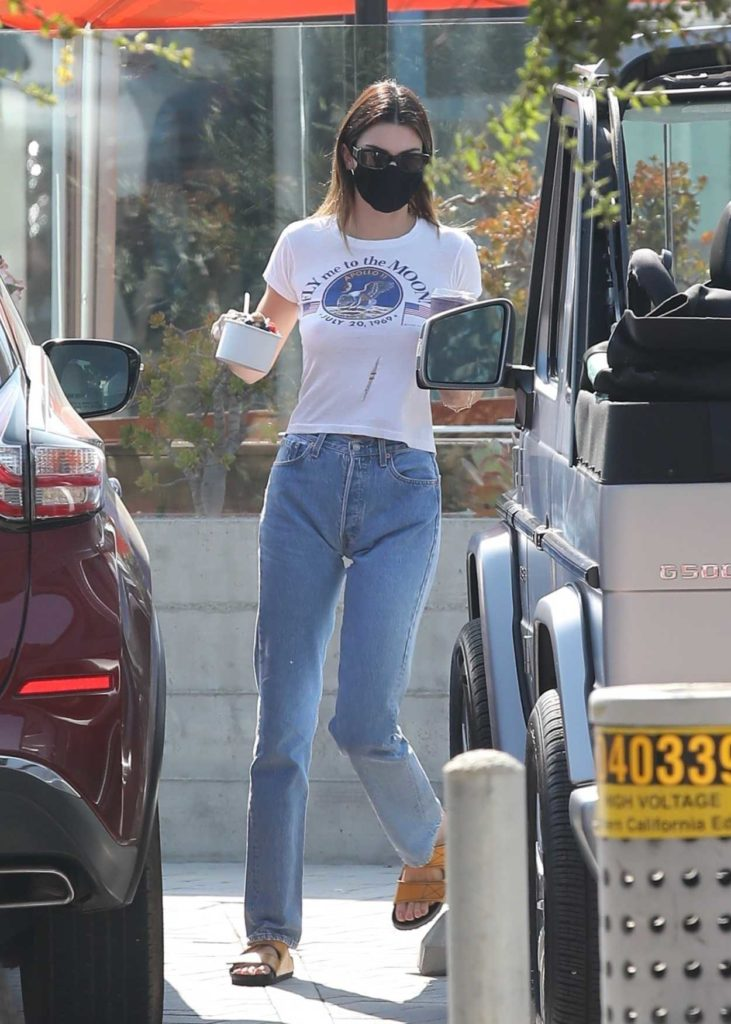Kendall Jenner in a White Tee