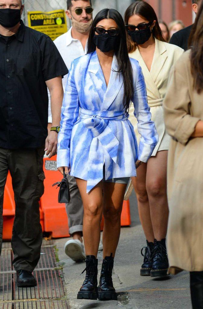 Kourtney Kardashian in a Black Boots