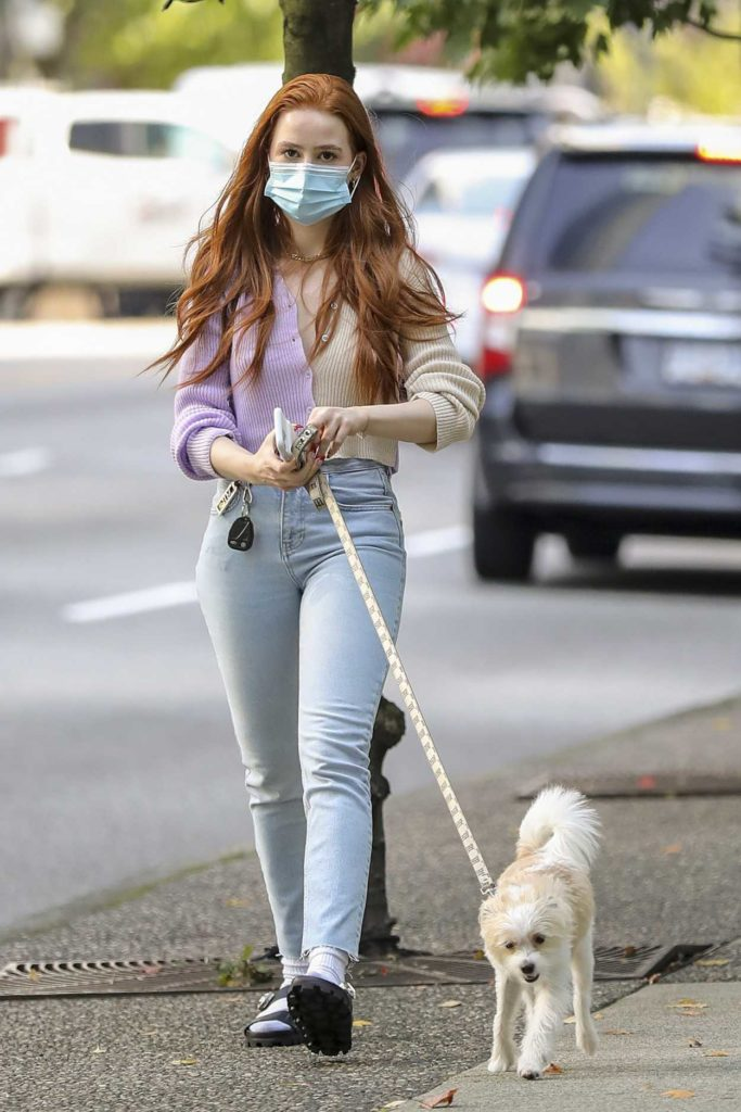 Madelaine Petsch in a Protective Mask