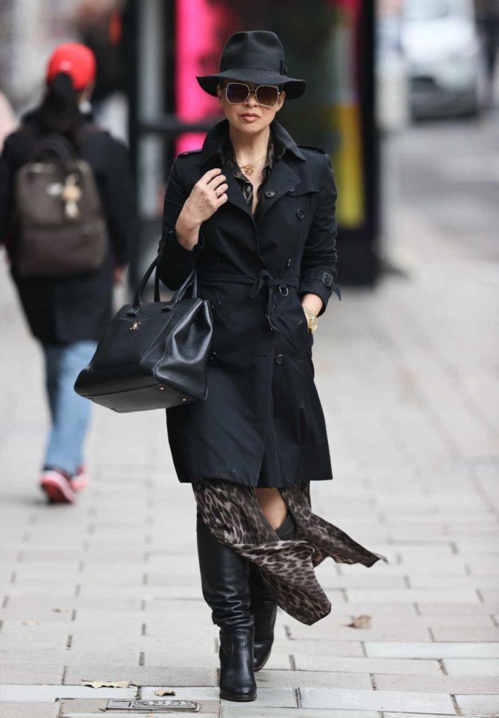Myleene Klass in a Black Hat