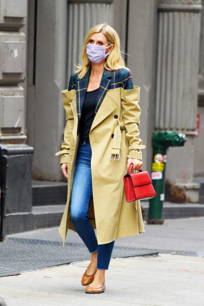 Nicky Hilton in a Protective Mask