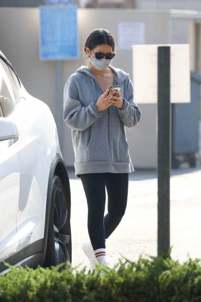 Olivia Munn in a Protective Mask