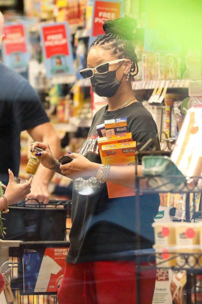 Rihanna in a Black Tee