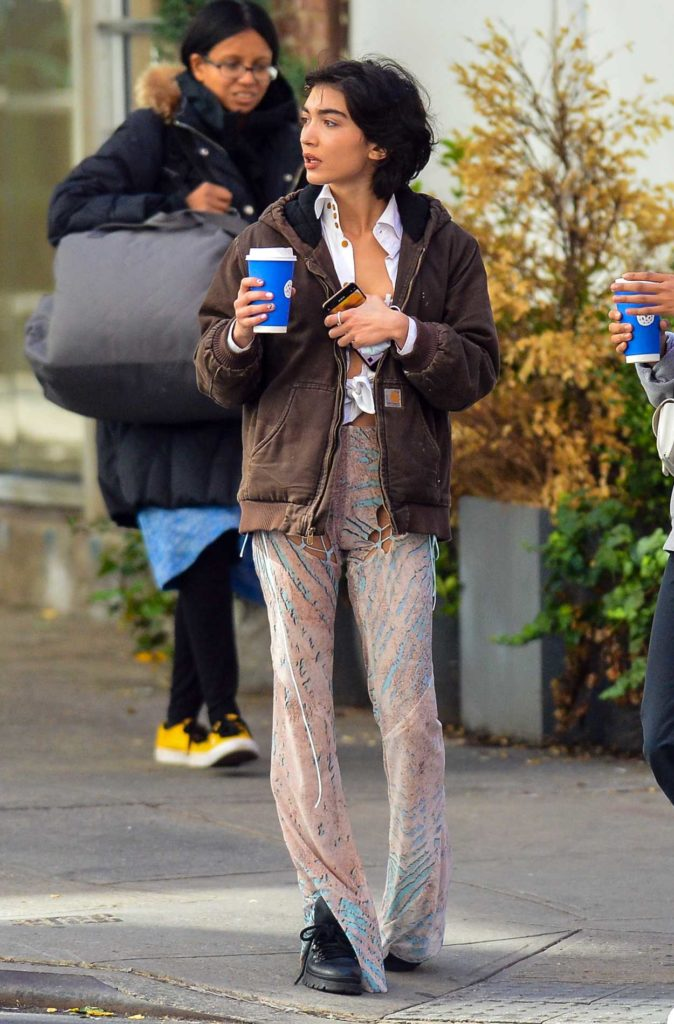 Rowan Blanchard in a Brown Carhartt Jacket