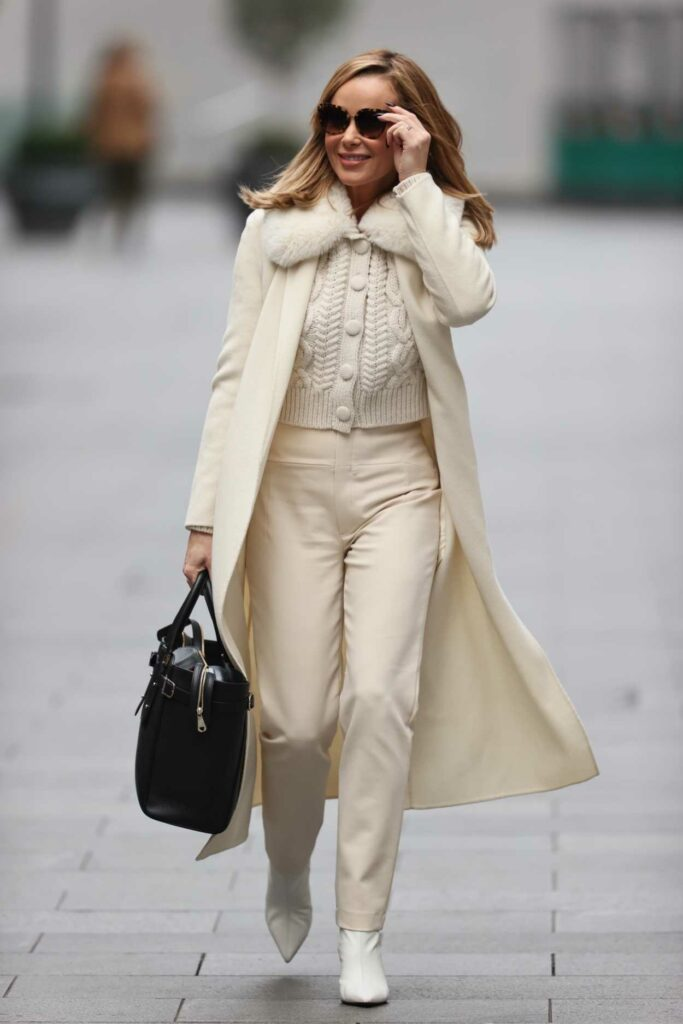 Amanda Holden in a Beige Outfit