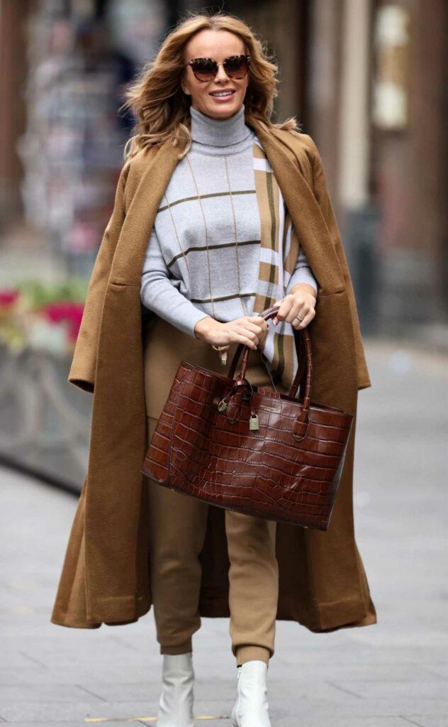 Amanda Holden in a Tan Coat