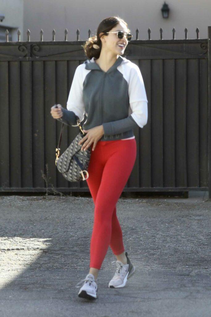 Eiza Gonzalez in a Red Leggings