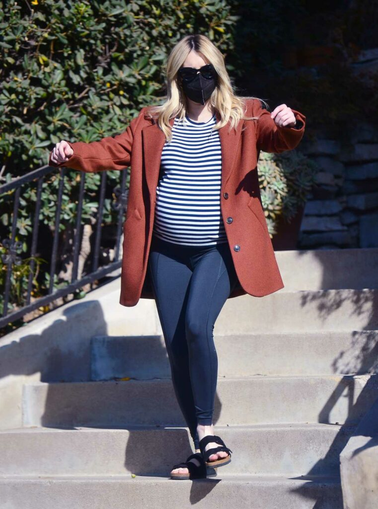 Emma Roberts in a Striped Tee