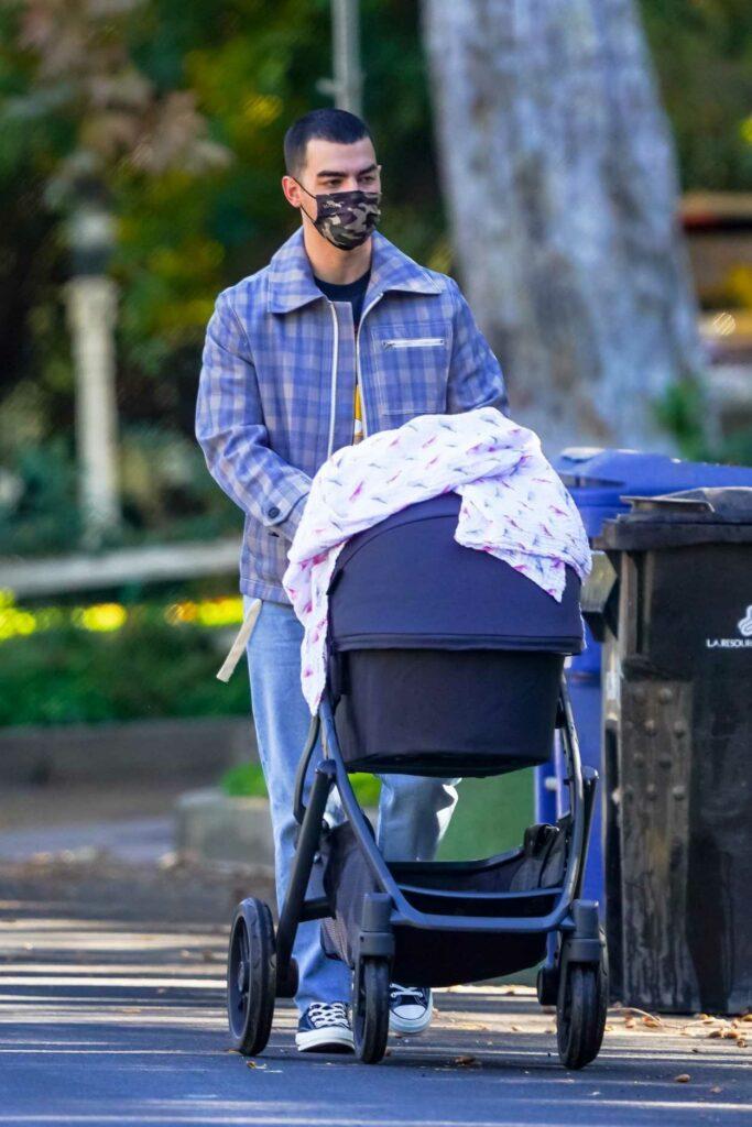 Joe Jonas in a Plaid Jacket