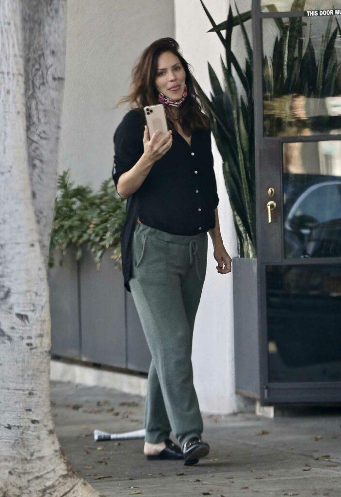 Katharine McPhee in an Olive Sweatpants