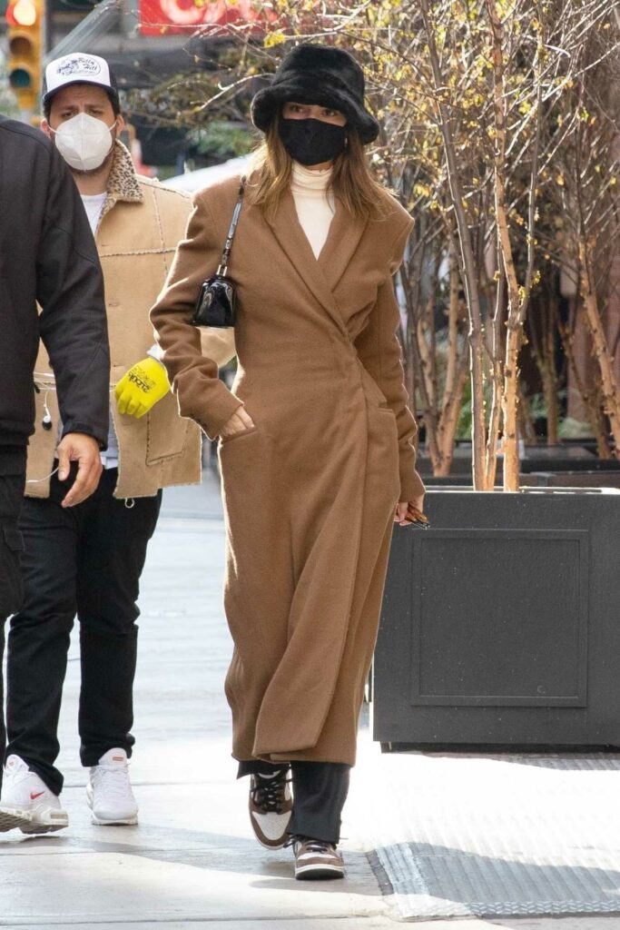 Kendall Jenner in a Tan Coat