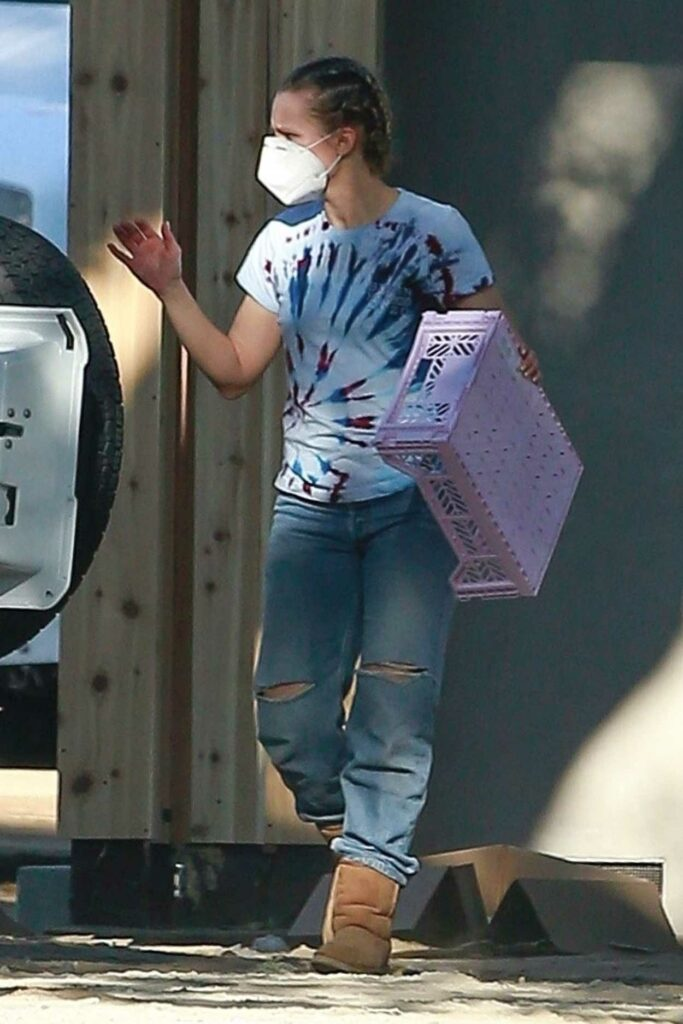 Kristen Bell in a Protective Mask
