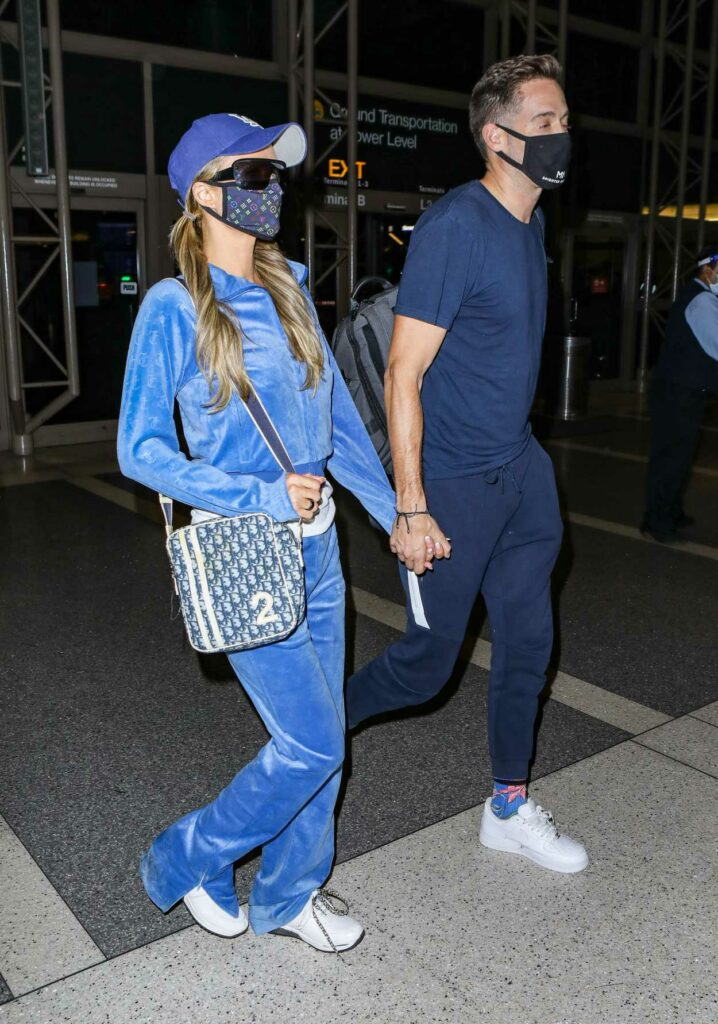 Paris Hilton in a Blue Cap