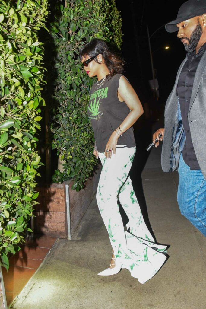 Rihanna in a White Pants