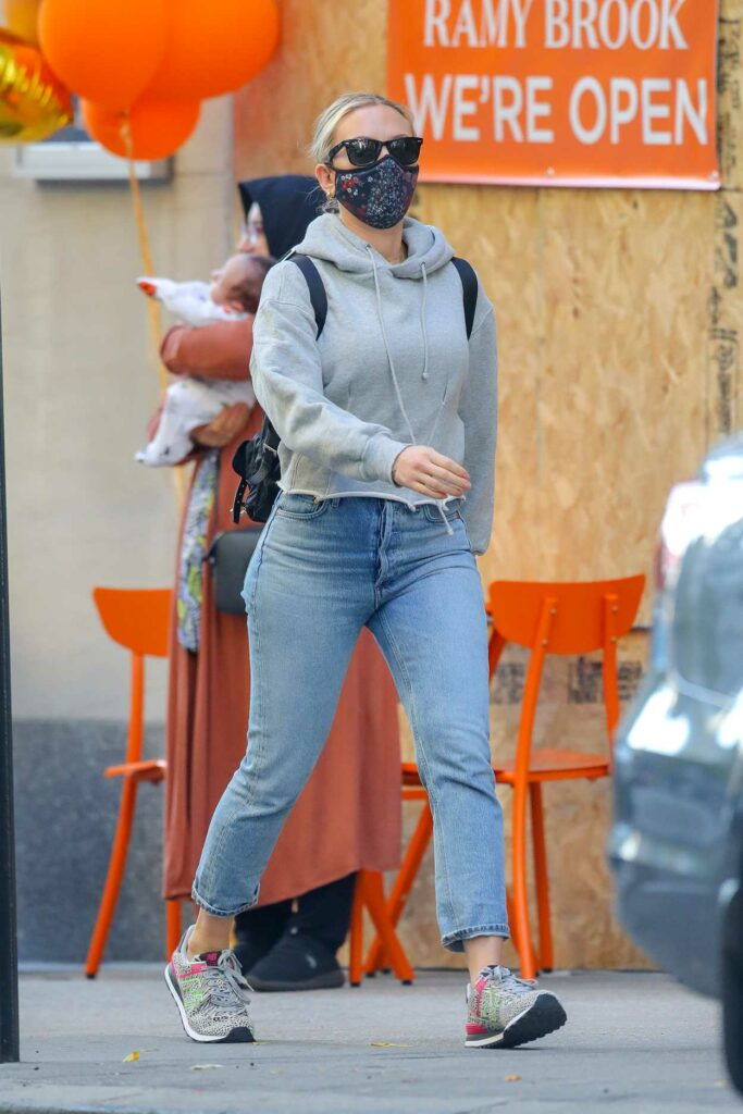 Scarlett Johansson in a Protective Mask