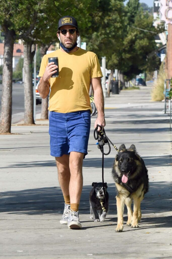 Zachary Quinto in a Yellow Tee