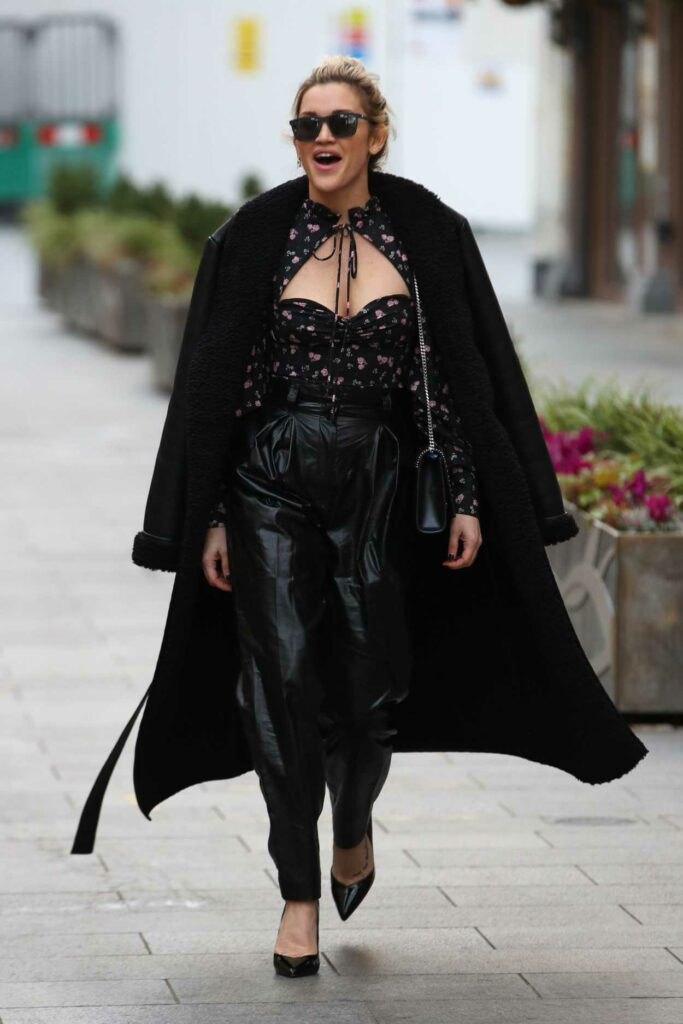 Ashley Roberts in a Black Outfit