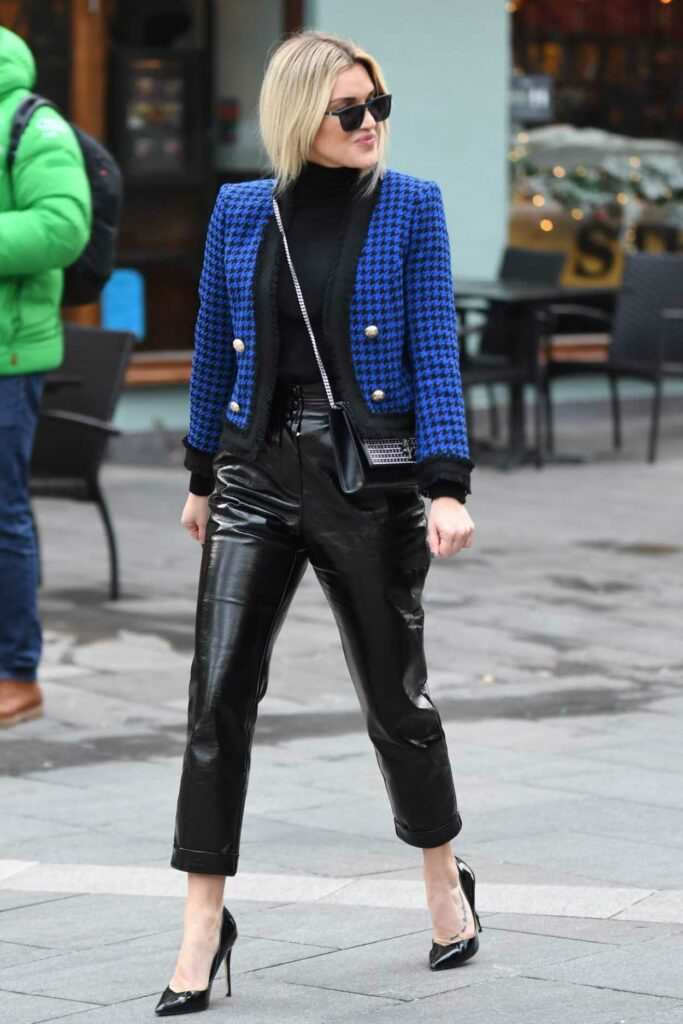 Ashley Roberts in Blue Cardigan