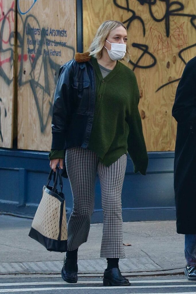 Chloe Sevigny in a Protective Mask