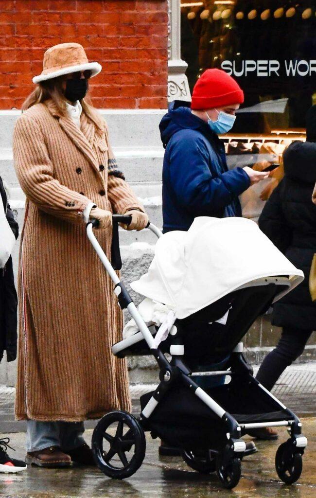 Gigi Hadid in a Tan Coat