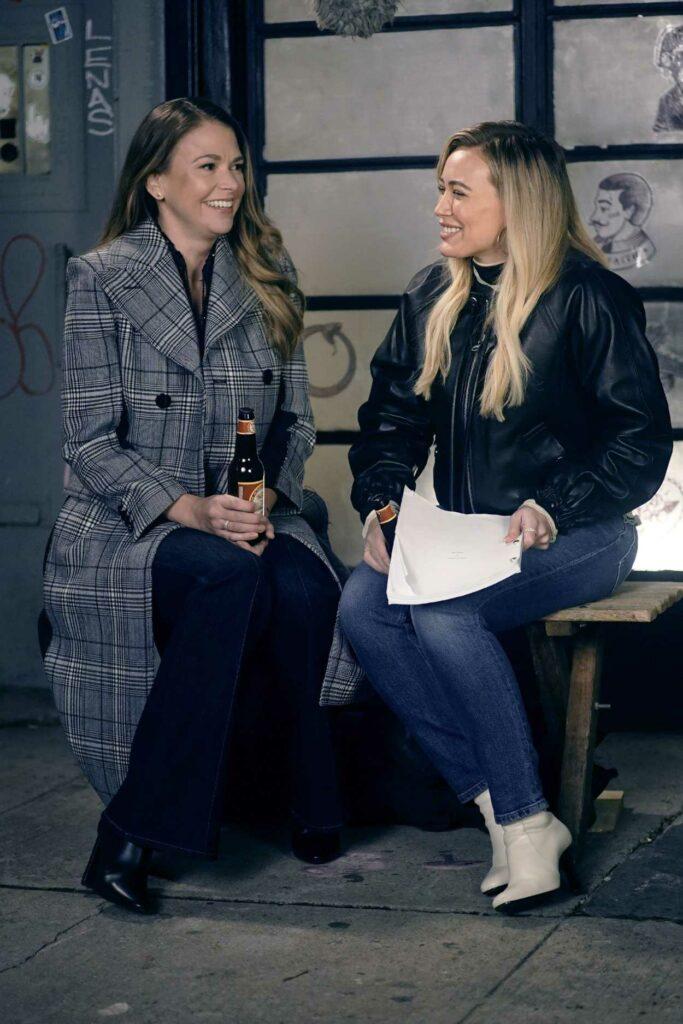 Hilary Duff in a Black Jacket