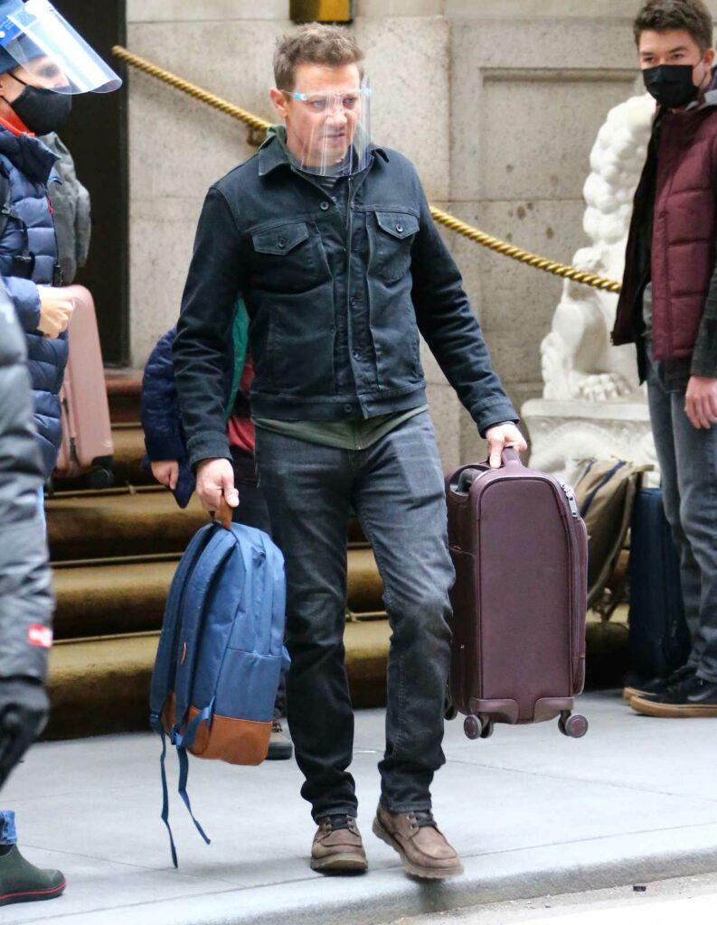 Jeremy Renner in a Black Jacket