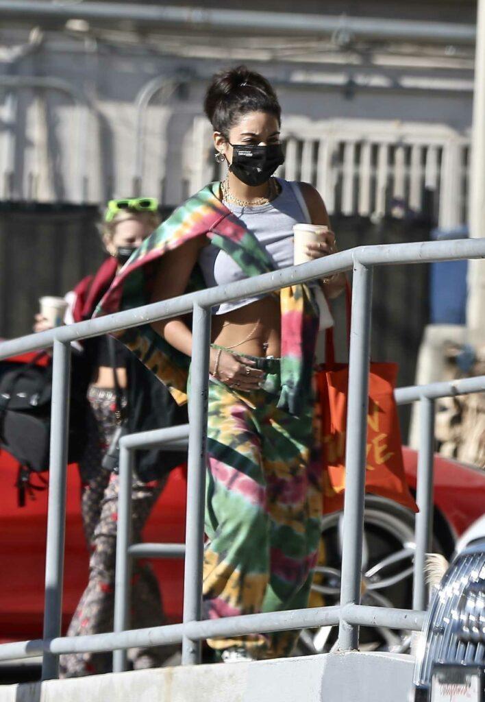 Vanessa Hudgens in a Black Protective Mask