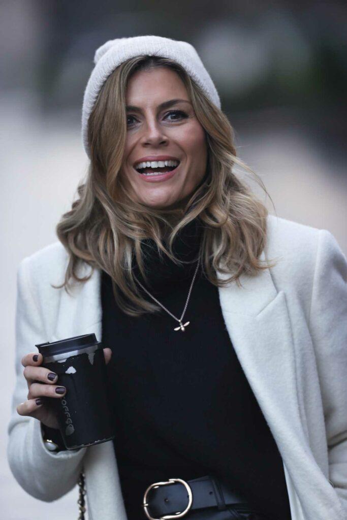 Zoe Hardman in a White Coat