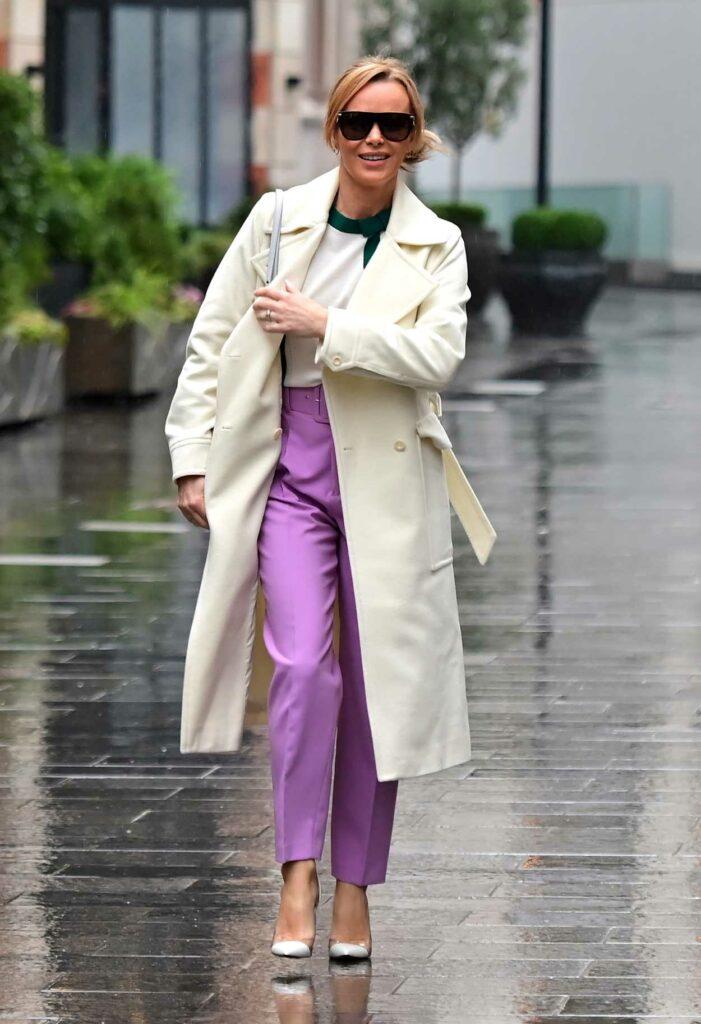 Amanda Holden in a Purple Pants