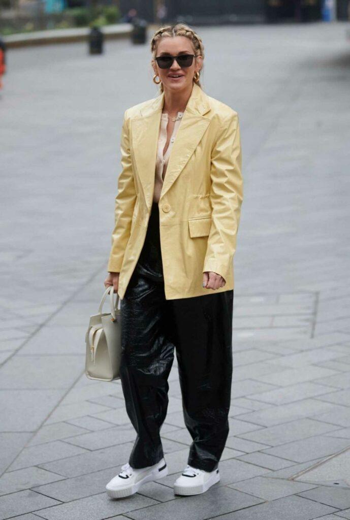 Ashley Roberts in a Yellow Blazer