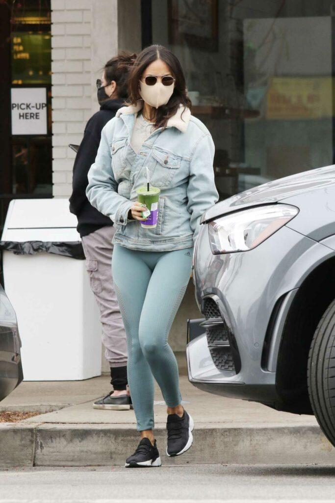 Eiza Gonzalez in a Blue Denim Jacket