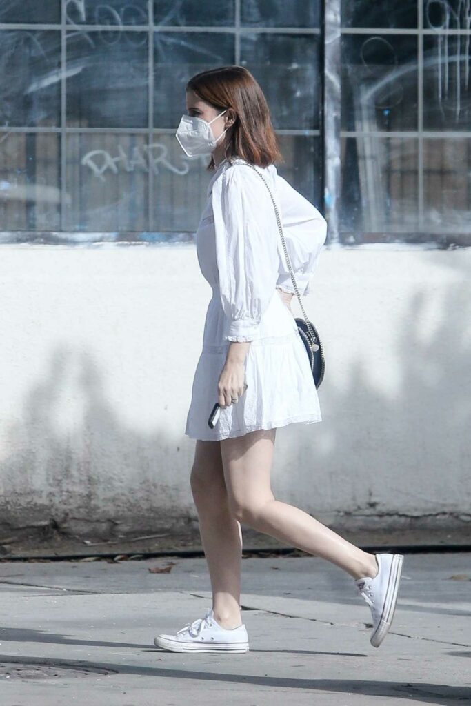 Kate Mara in a White Dress