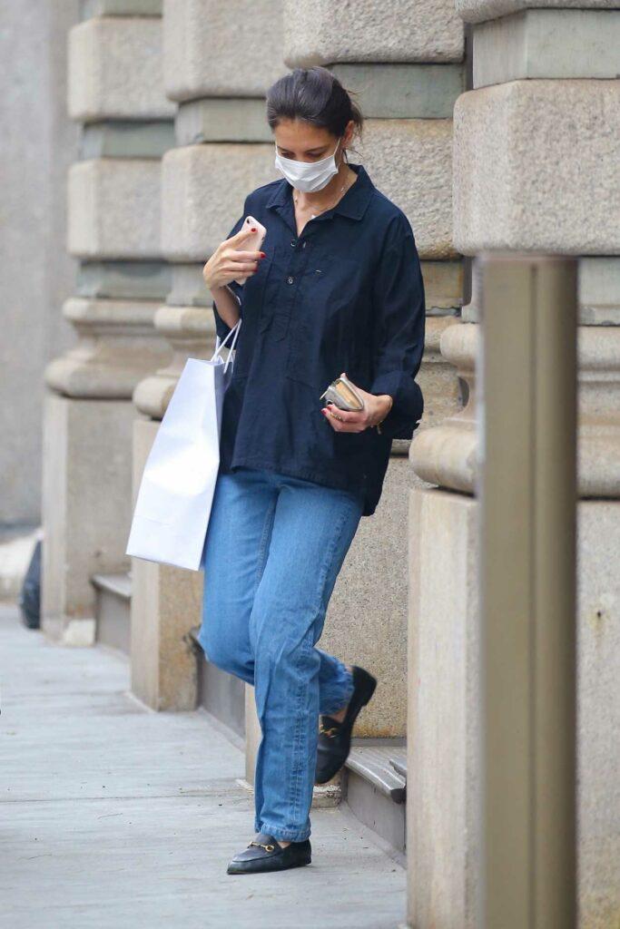 Katie Holmes in a Blue Jeans