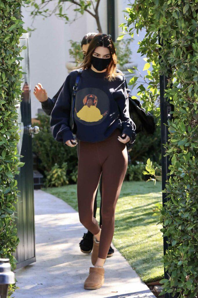 Kendall Jenner in a Blue Sweatshirt