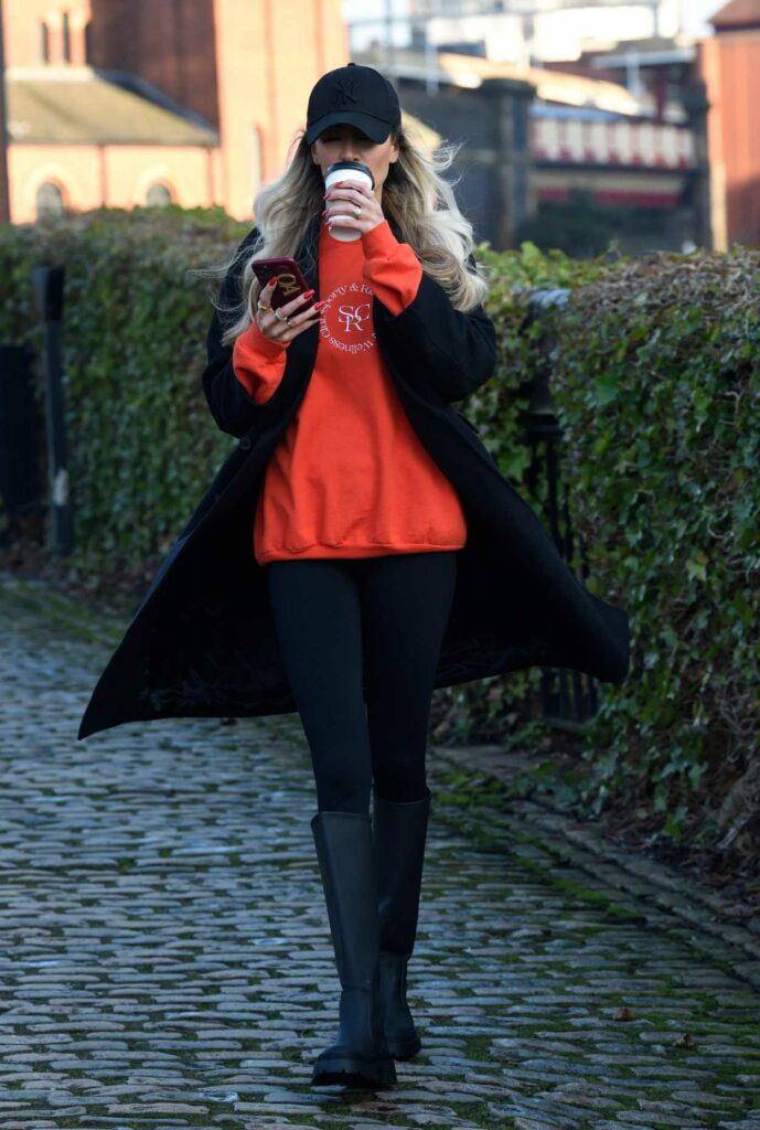 Olivia Attwood in a Black Cap
