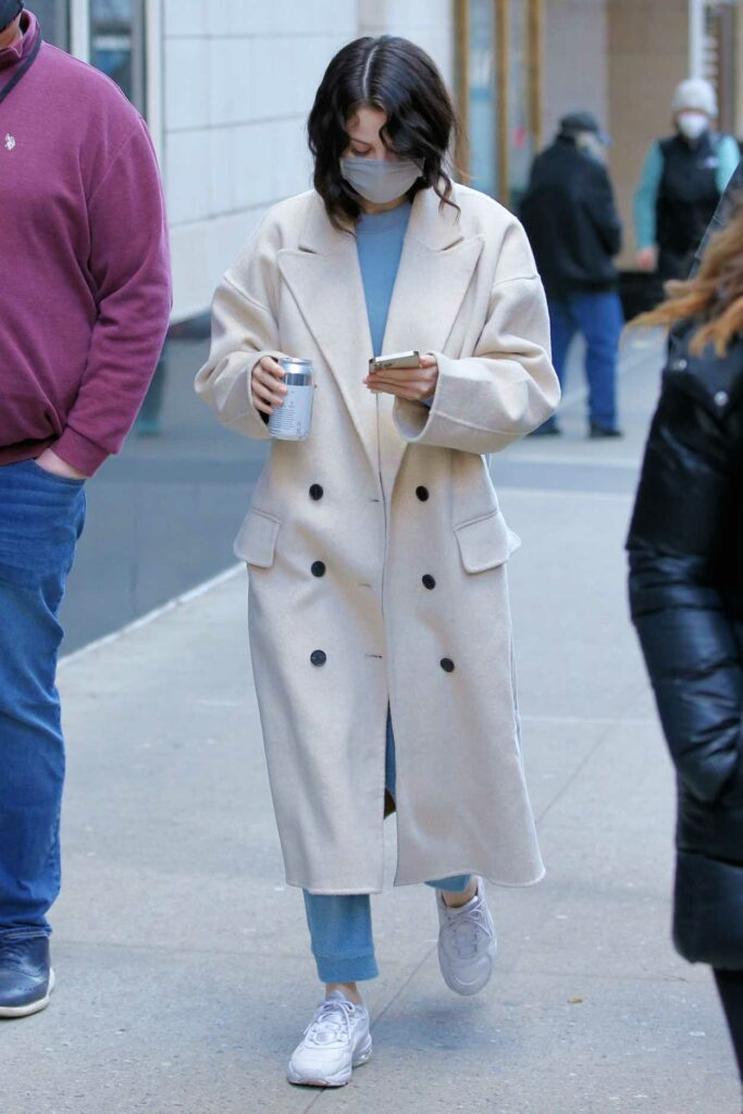 Selena Gomez in a White Coat