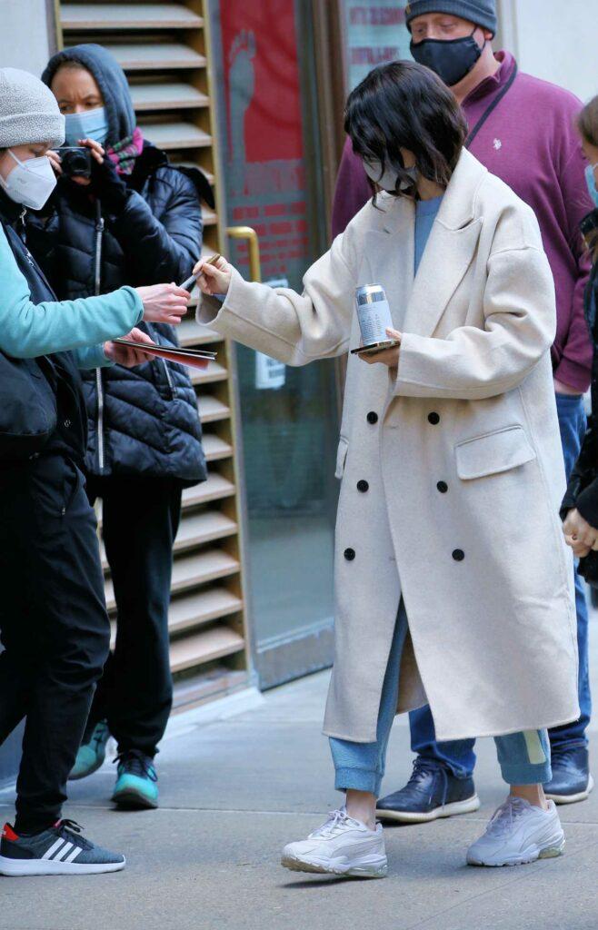 Selena Gomez in a White Coat