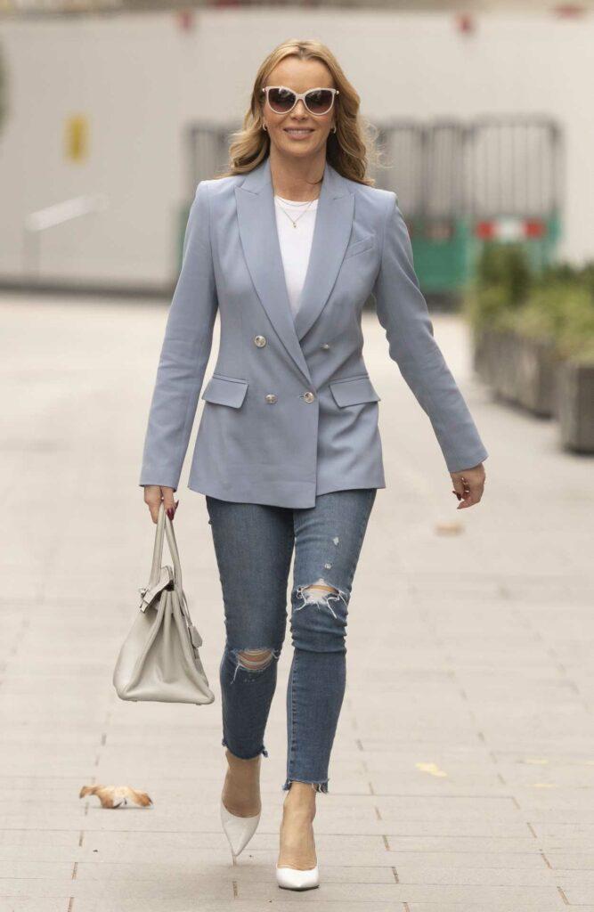 Amanda Holden in a Grey Blazer
