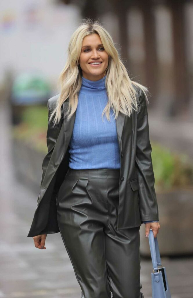 Ashley Roberts in a Black Pantsuit