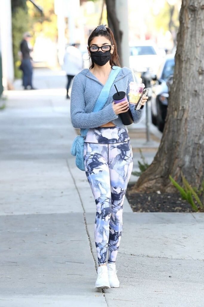 Chantel Jeffries in a Black Protective Mask
