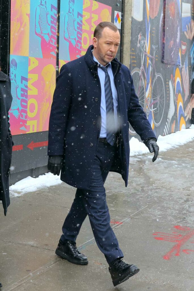 Donnie Wahlberg in a Black Coat