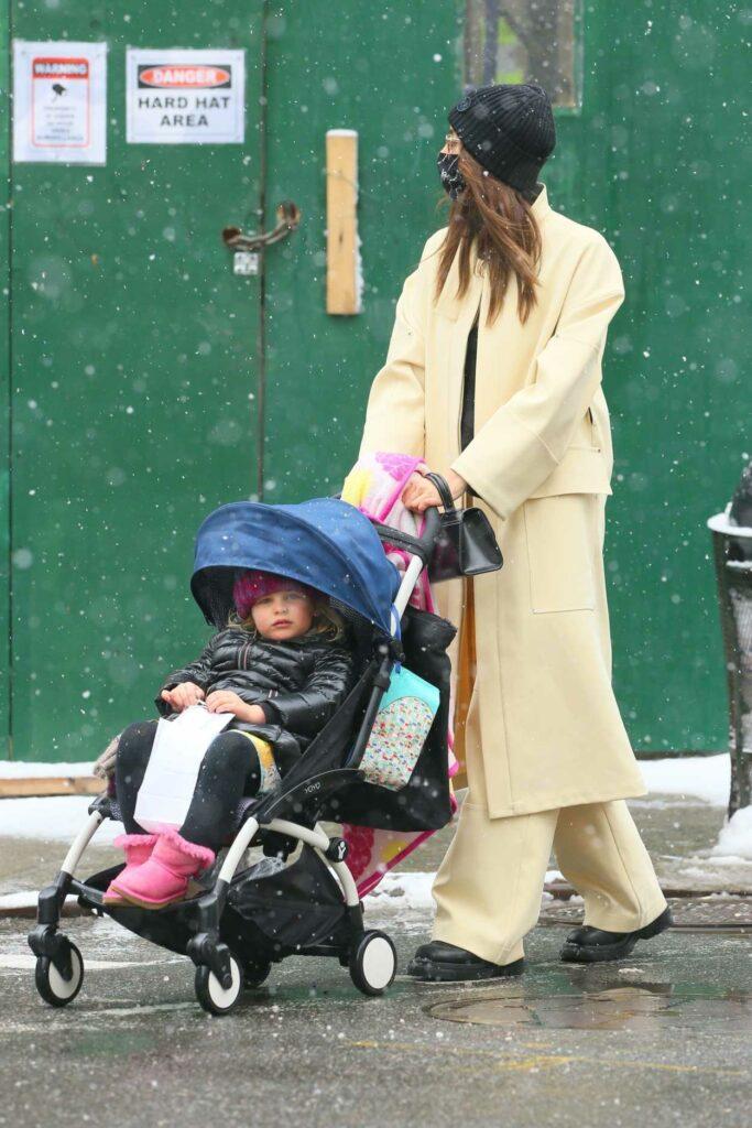 Irina Shayk in a Yellow Coat