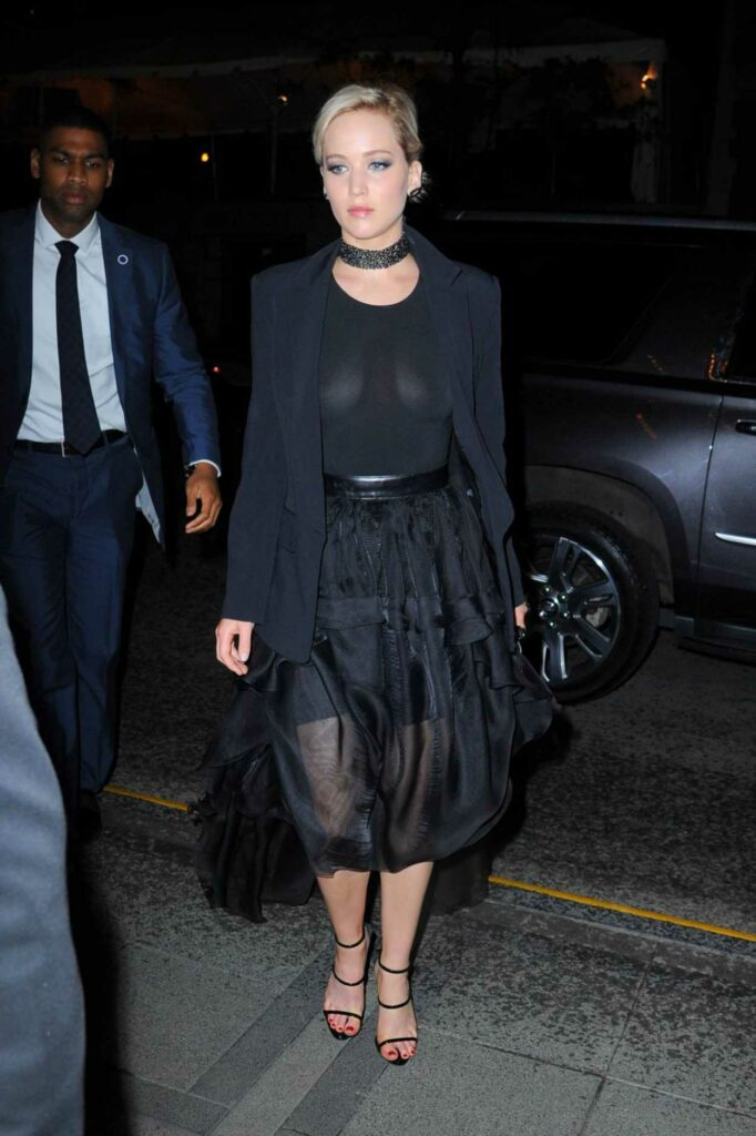 Jennifer Lawrence in a Black Outfit